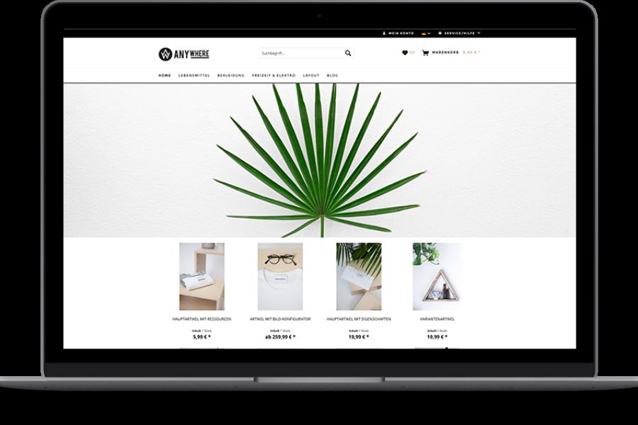 Shopware Theme – Anywhere